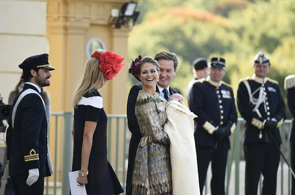Princess Madeleine, Chris O'Neill and Princess Leonore, King Carl Gustaf and Queen Silvia, Crown Princess Victoria and Prince Daniel, Prince Carl Philip and Princess Sofia
