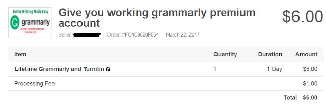 Grammarly Premium From Fiverr