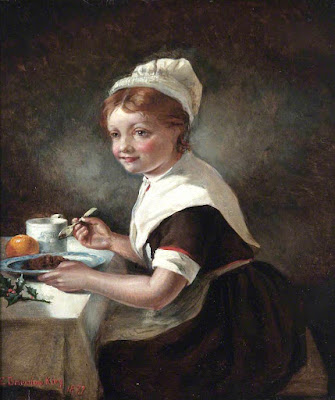 Foundling Girl at Christmas Dinner Emma Brownlow King - 1877