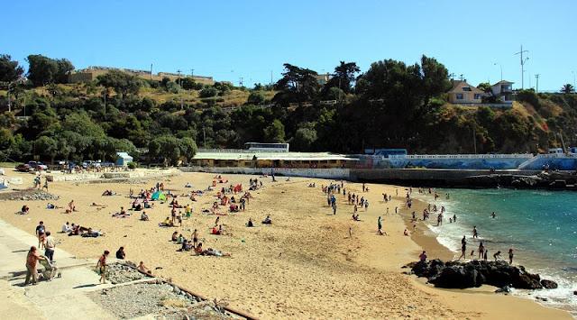 Ir nas praias no verão de Valparaíso