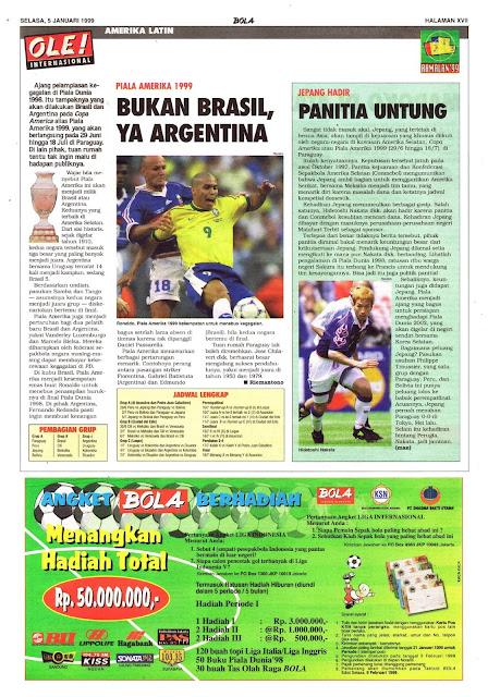 PIALA AMERIKA 1999 BUKAN BRASIL, YA ARGENTINA