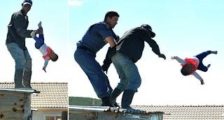 Πατέρας πέταξε την 1 έτους κόpη του από τη σκεπή για να μην κατεδαφίσουν το σπίτι του