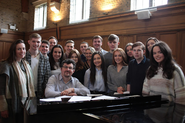 Desmond Earley and The Choral Scholars of University College Dublin (Photo Mark Molloy)