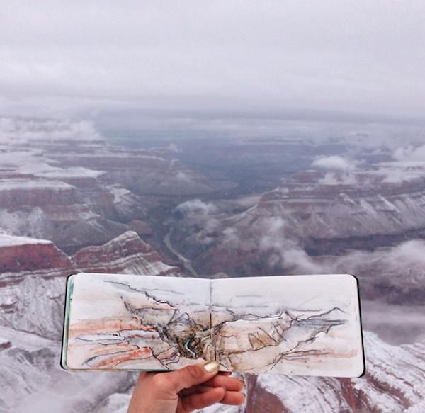 Paisaje en las montañas