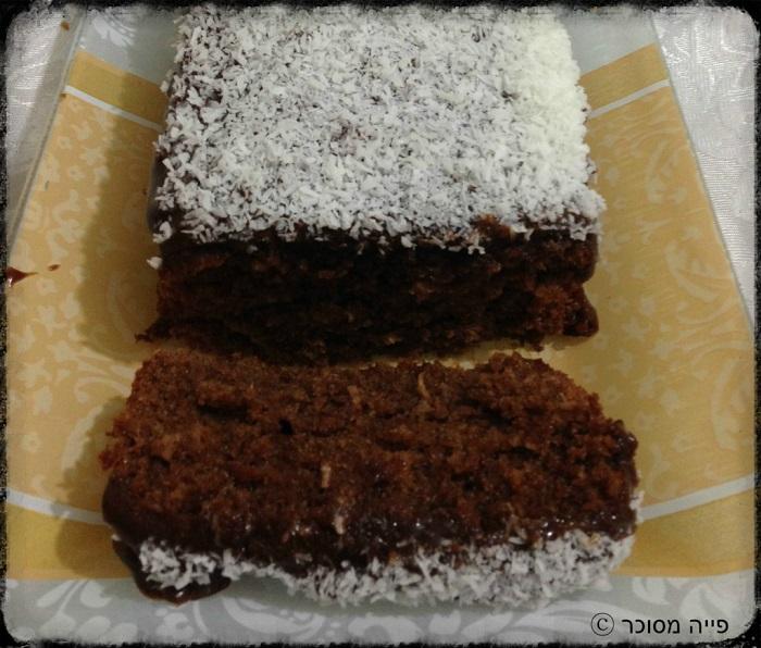 עוגת שוקולד קוקוס עשירה