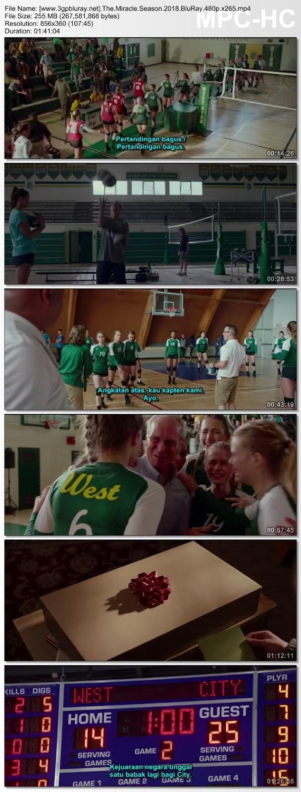 Screenshots Download The Miracle Season (2018) BluRay 480p & 3GP Subtitle Indonesia