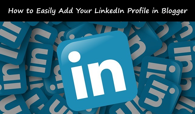 add linkedin profile into blogger