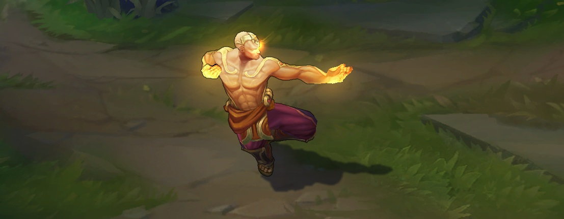 As a legendary tier skin, God Fist Lee Sin also has a unique voiceover  including it's own special interactions. [Click here for full 15+ minutes  voiceover!]
