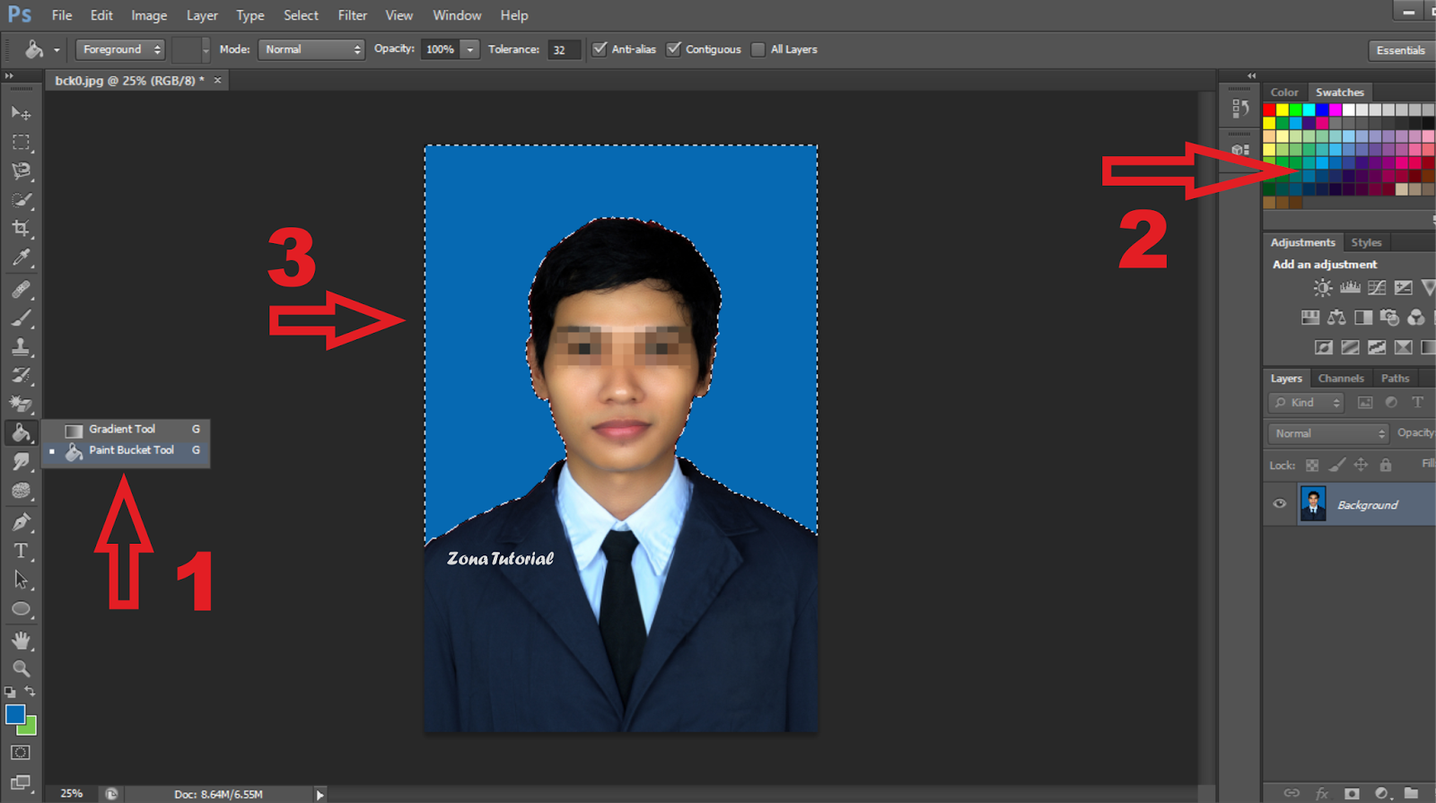 2 Cara Mengganti Warna Background Foto Di Photoshop Zotutorial