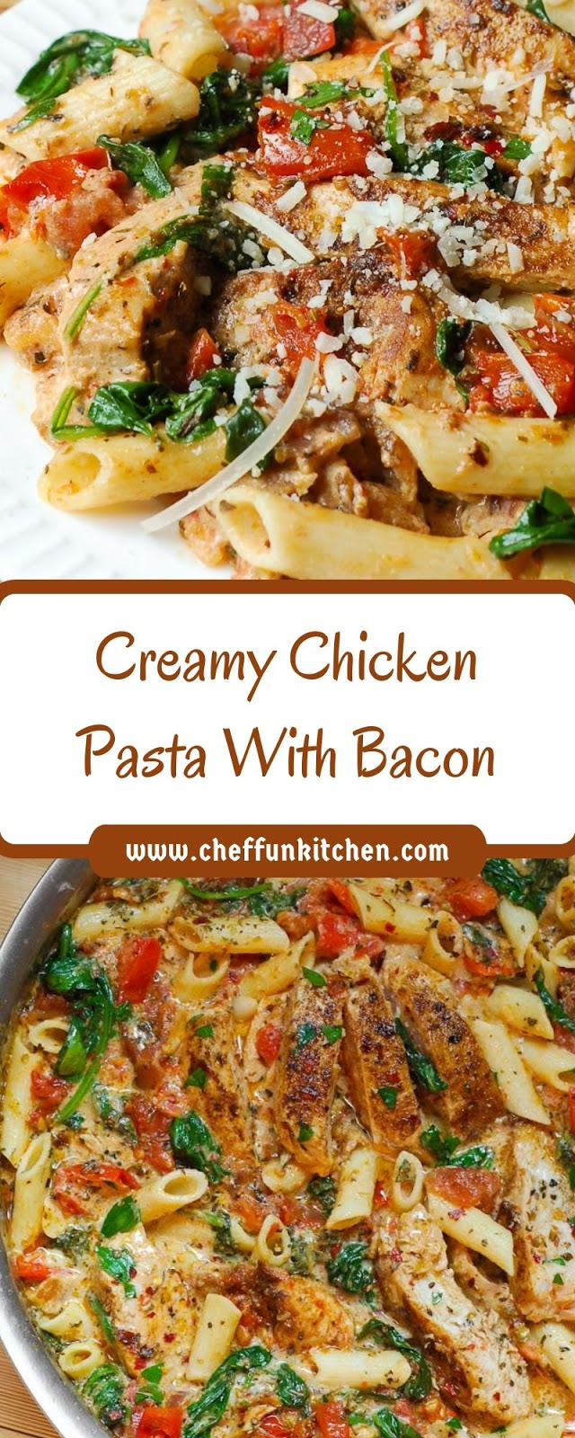 Creamy Chicken Pasta With Bacon