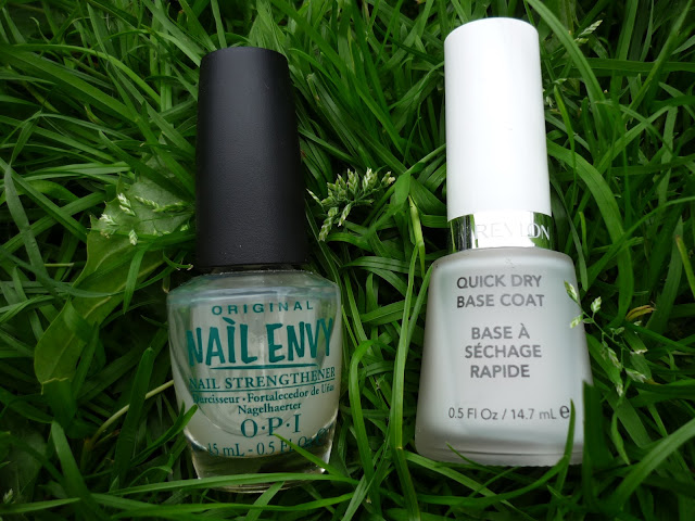 OPI Nail Envy and Revlon Quick Dry Base Coat