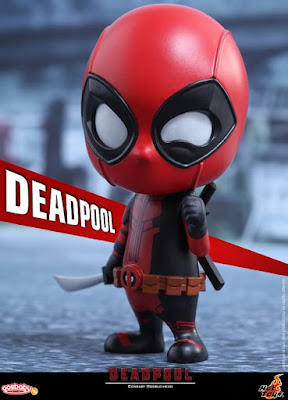 Deadpool Cosbaby Marvel Vinyl Figure Bobble Head by Hot Toys