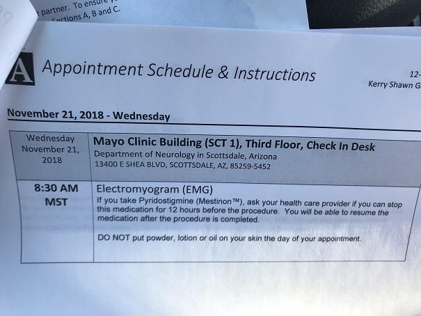 Leg Update #14: The Mayo Clinic