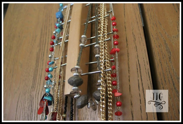 Easy, simple and thrifty necklace holder! What more could you ask for!