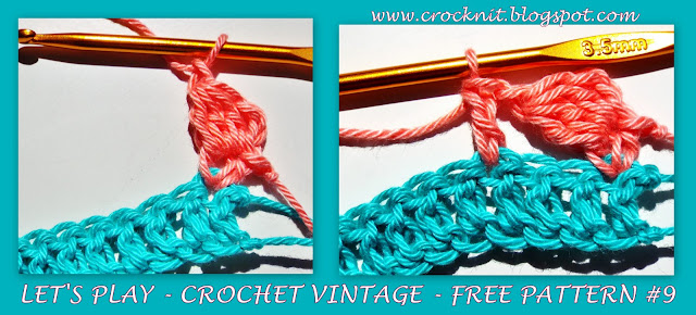 free crochet patterns, how to crochet, vintage crochet, sideways stitch,