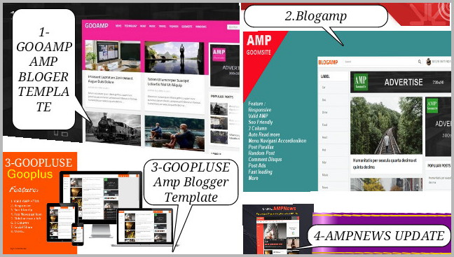 Download Amp Html Blogger Template Baru