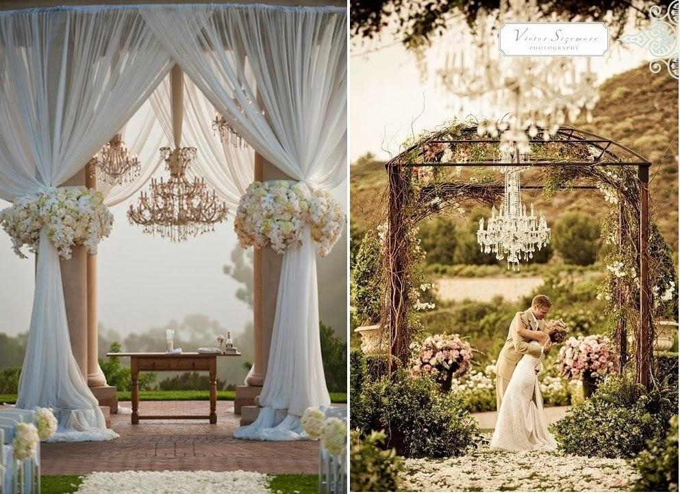 Como usar lustres na decoração do casamento