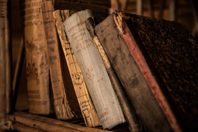 Old books are like a forgotten mystery