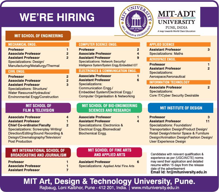 MIT Art, Design and Technology University Wanted Professor