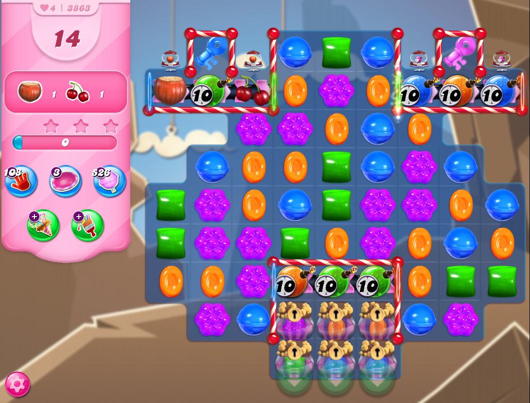 Candy Crush Saga level 3863