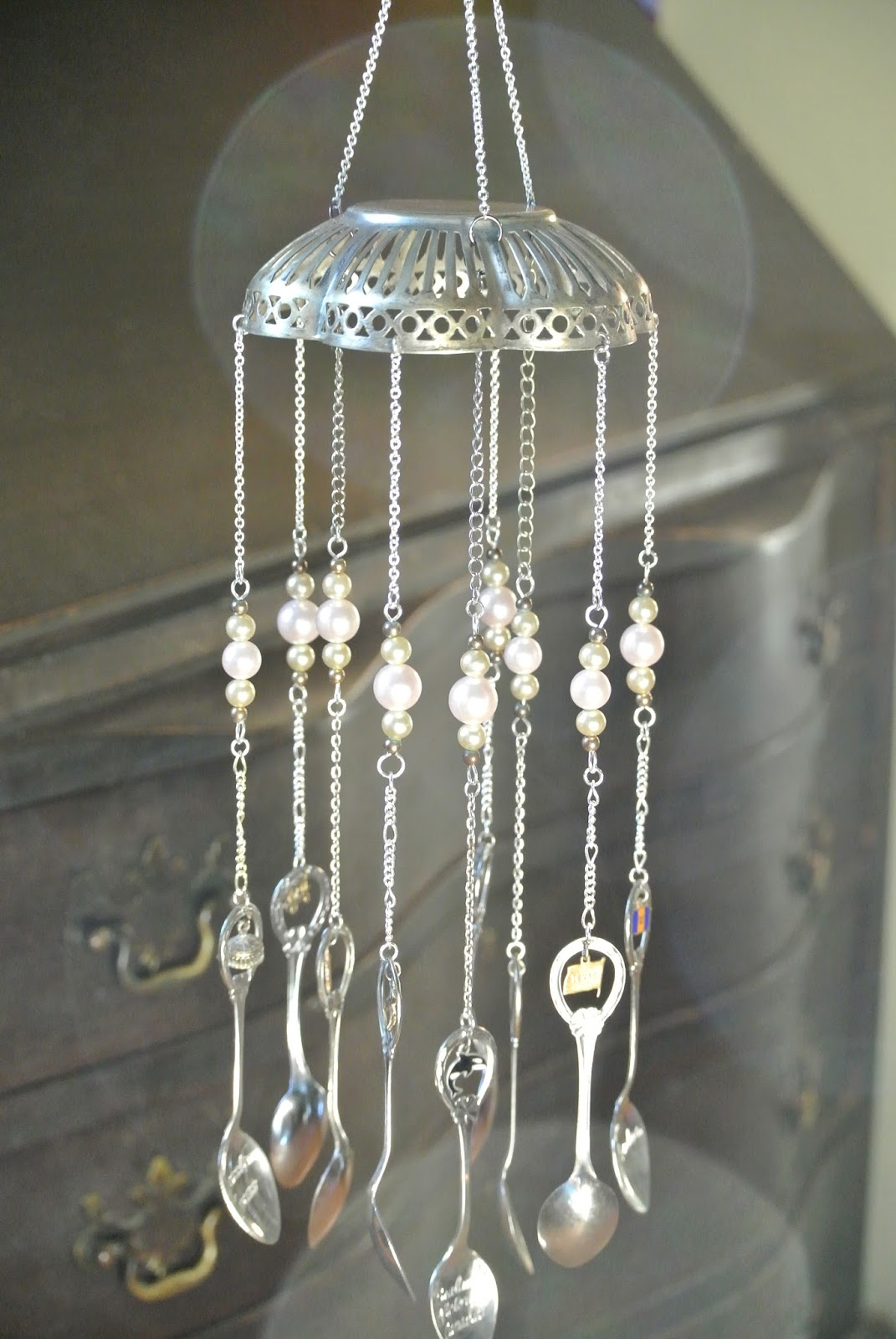 how to make silverware wind chime