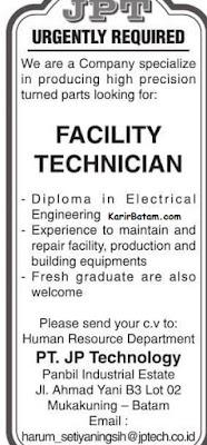 Lowongan Kerja PT. JP Technology