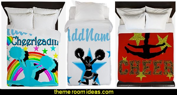cheerleader Duvet cheerleading bedding  cheerleader bedding