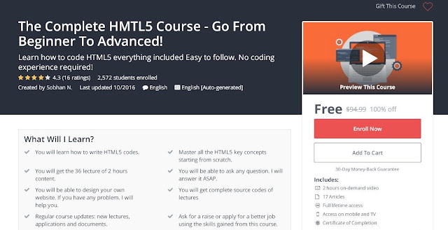 The Complete HMTL5 Course - Go From Beginner To Advanced!