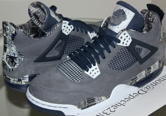 d71cdeab652 A rare pair of Air Jordan 4 Retro's made for the Hoyas is up for grabs.  Check out the auction here.