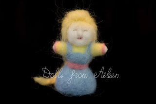 OOAK needle felted doll, traditional woman