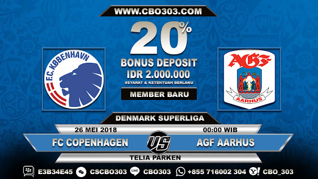 Prediksi Bola FC Copenhagen VS AGF Aarhus 26 Mei 2018