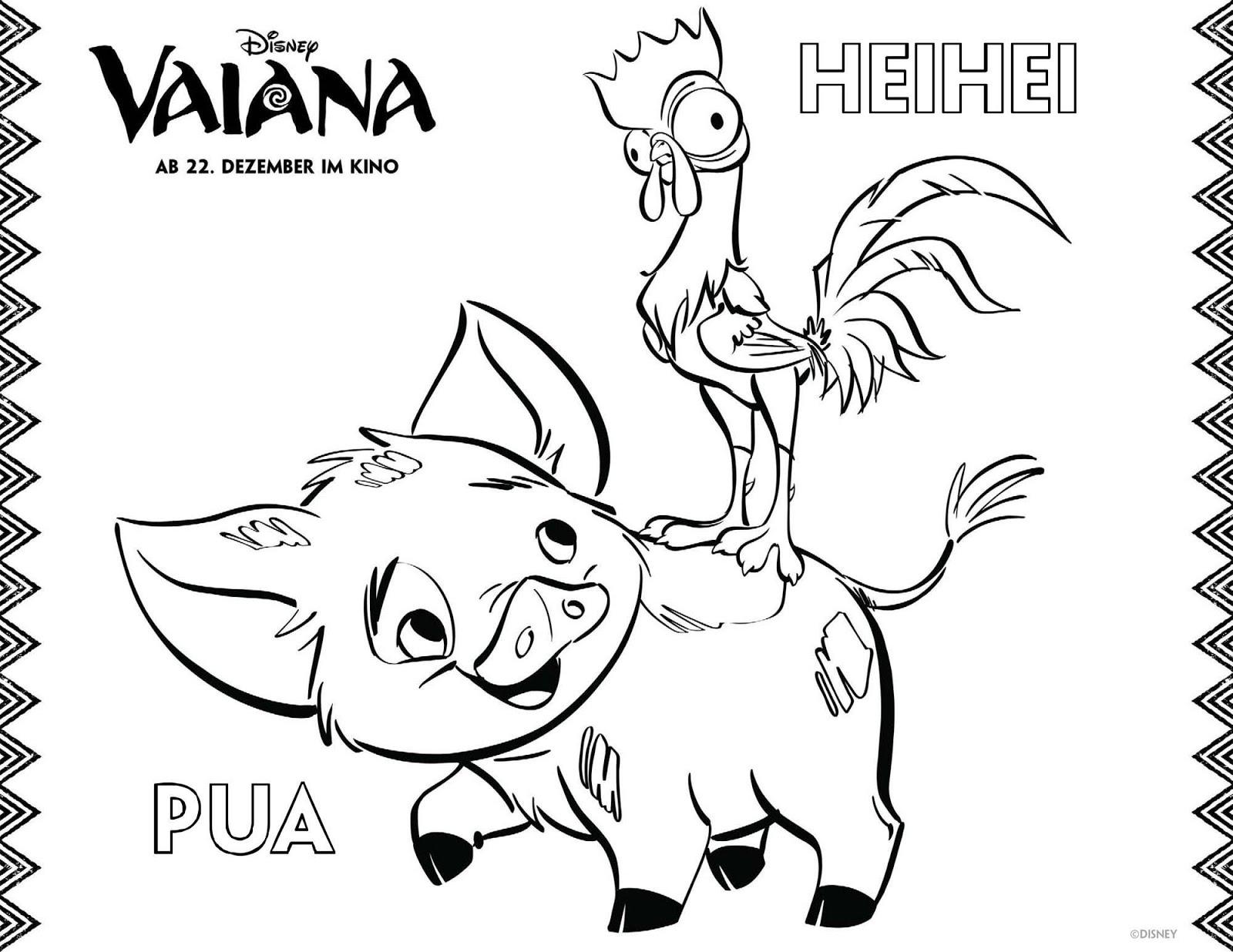 vaiana ausmalbilder - vaiana zum ausmalen - moana