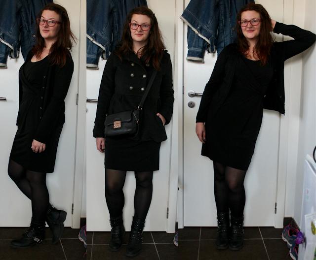 Une robe noire, 3 tenues - Garde-robe capsule d'automne