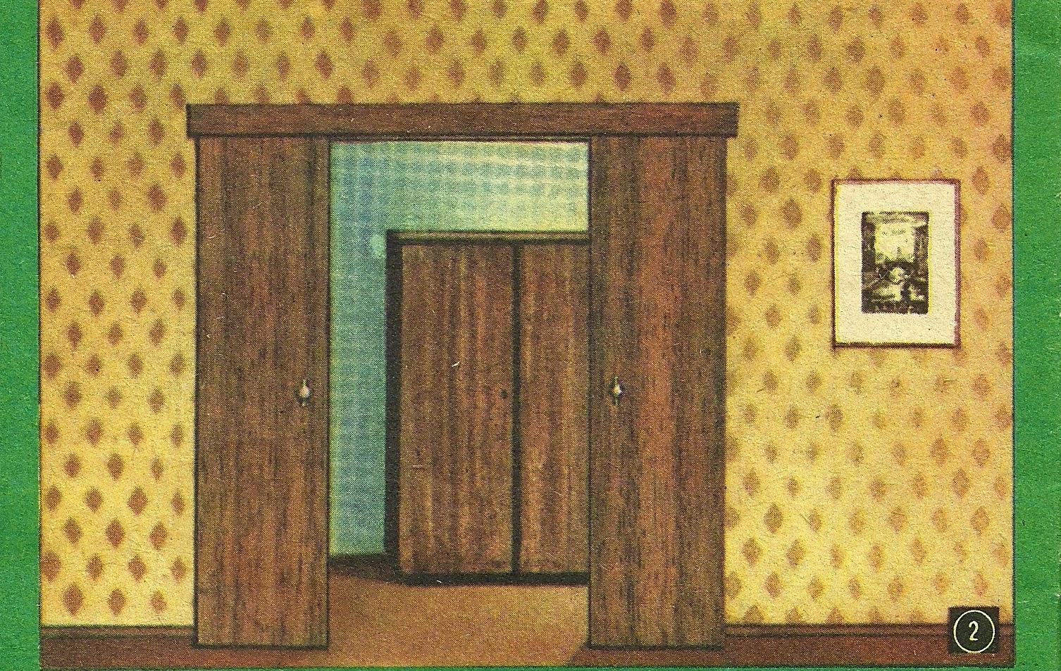 Так выглядит раздвижная дверь, сделанная самостоятельно
