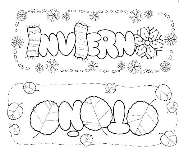 Dibujo De La Palabra Otoño Para Colorear Con Los Niños: Blog MegaDiverso: Invierno Para Colorear Y Descargar