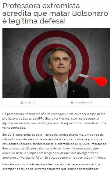 Pelas manifestações dos comunistas atentados esperam o governo de Bolsonaro