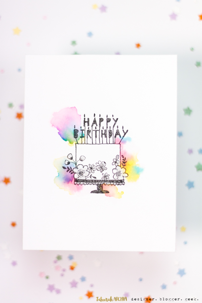 Astonishing Seven Hills Crafts Blog Watercolour Cloud Birthday Cake Card Birthday Cards Printable Nowaargucafe Filternl