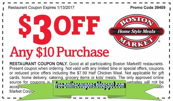 Join the Boston Market catering rewards program to earn 30 points (online) and 10 points (store) per dollar spent. Redeem 15, points and receive a $25 Boston Market gift card.