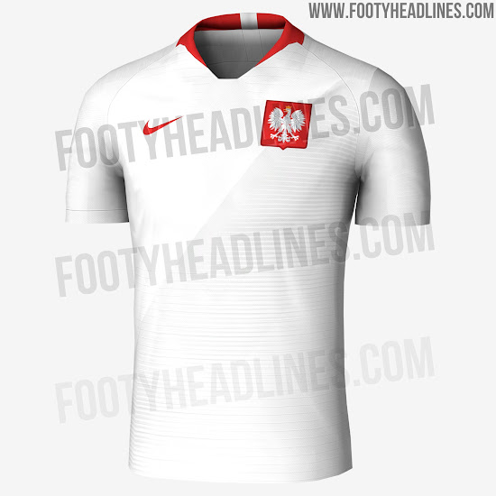 c0d2ec153 The new Nike Poland 2018 World Cup jerseys feature the country s  traditional colors. On the front of Poland s 2018 World Cup uniforms is a  subtle graphic ...