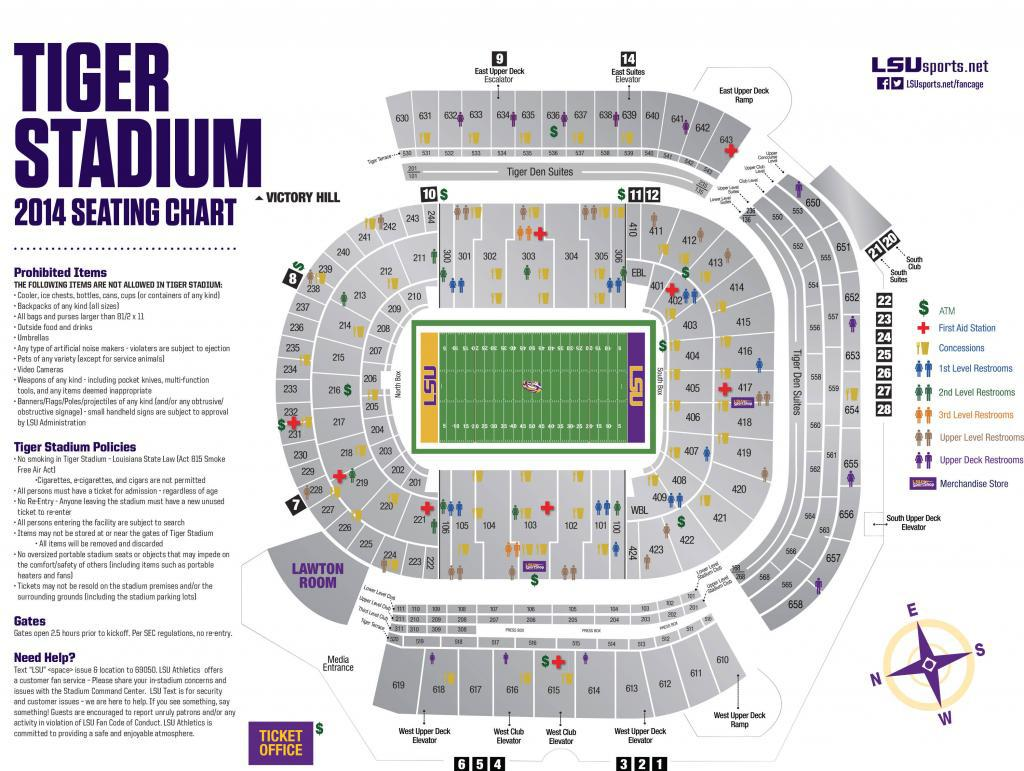 tiger stadium seating chart