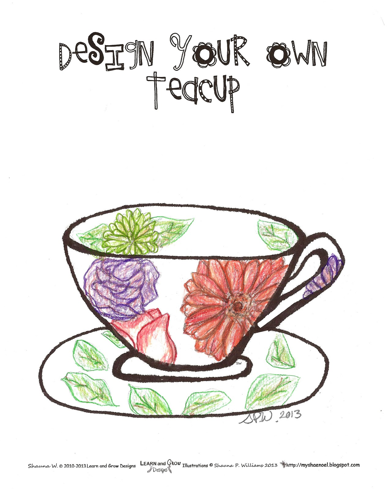Learn and Grow Designs Website: Free Design a Teacup ...