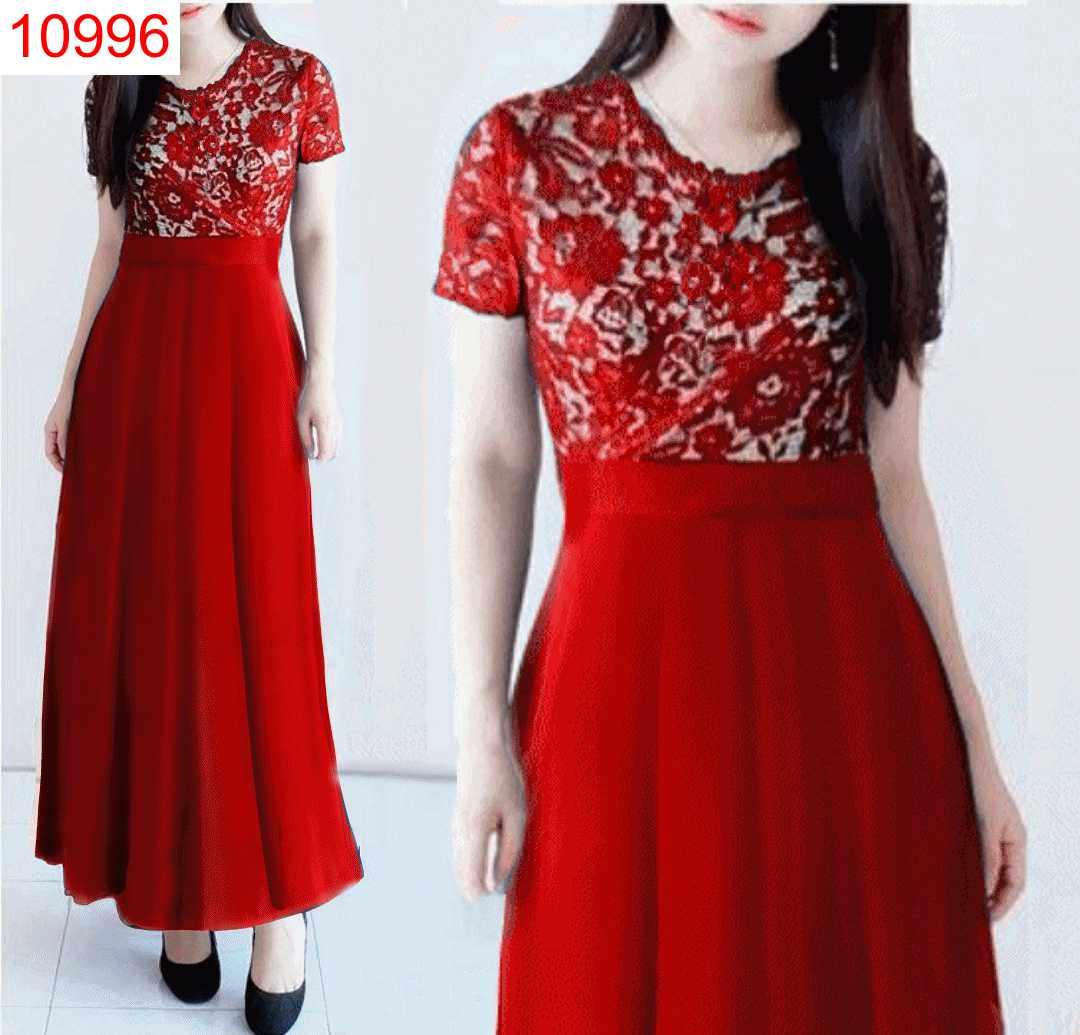 DRESS CLARISSA MERAH - 10996
