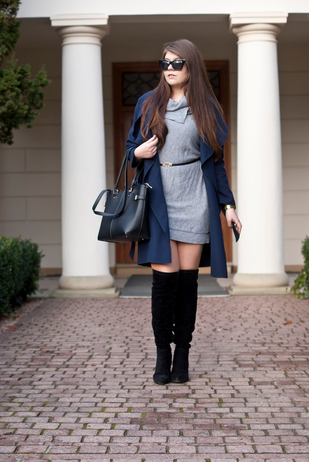 Swetrowa sukienka