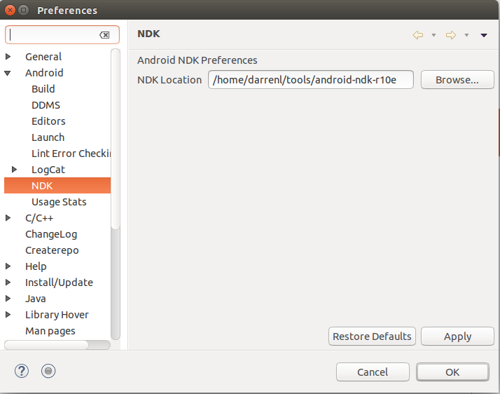 TzuTaLin's blog: Android-NDK Eclipse setup