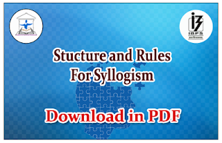 Structure and Rules for Syllogism
