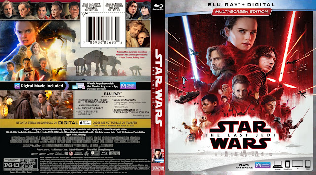 Star Wars: Episode VIII - The Last Jedi Bluray Cover
