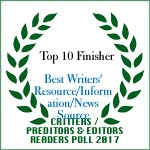 TOP 10 FINISHER BEST WRITERS' RESOURCE/INFORMATION NEWS SOURCE