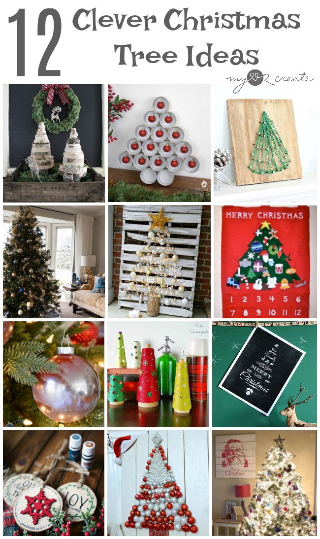 12 Clever Christmas Tree ideas to beautify your home for the holidays!  MyLove2Create