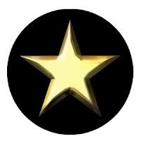 Siyah bir daire içindeki altın bir yıldızdan oluşan kurmay subay sınıf işareti