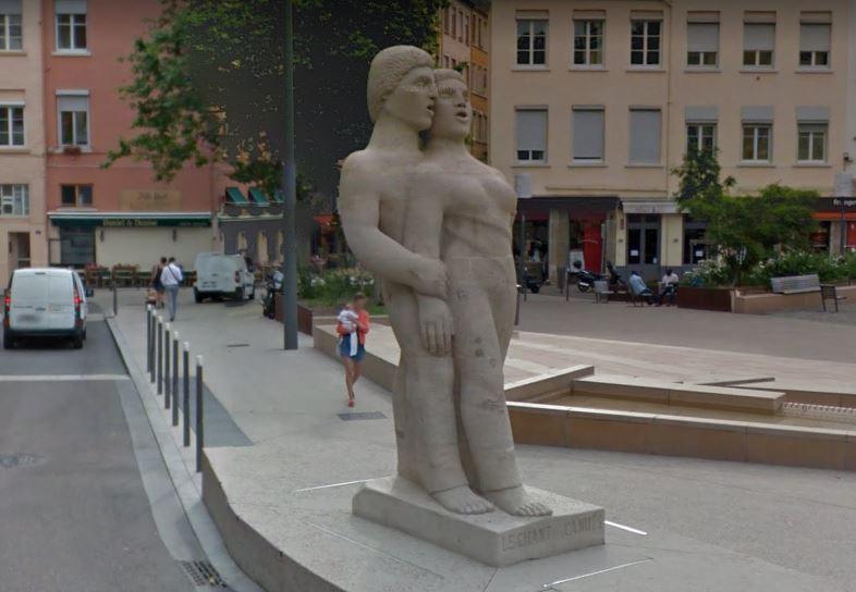 statue chant des canuts lyon